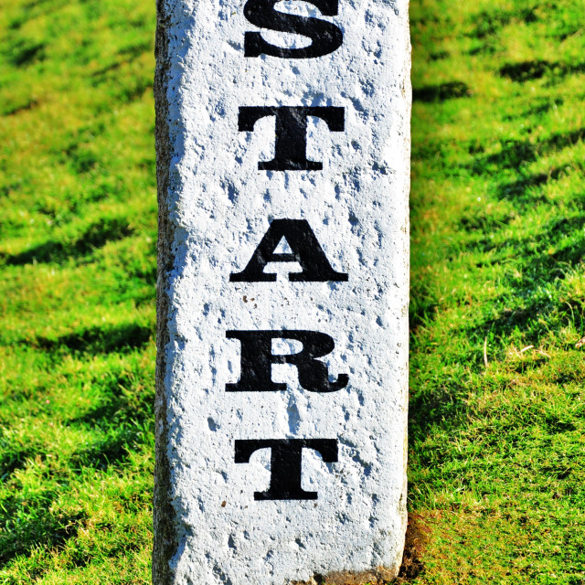 """S T A R T Sign"" stock image"