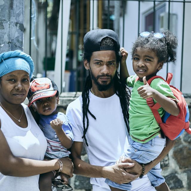 """Love Seychelles - Family"" stock image"