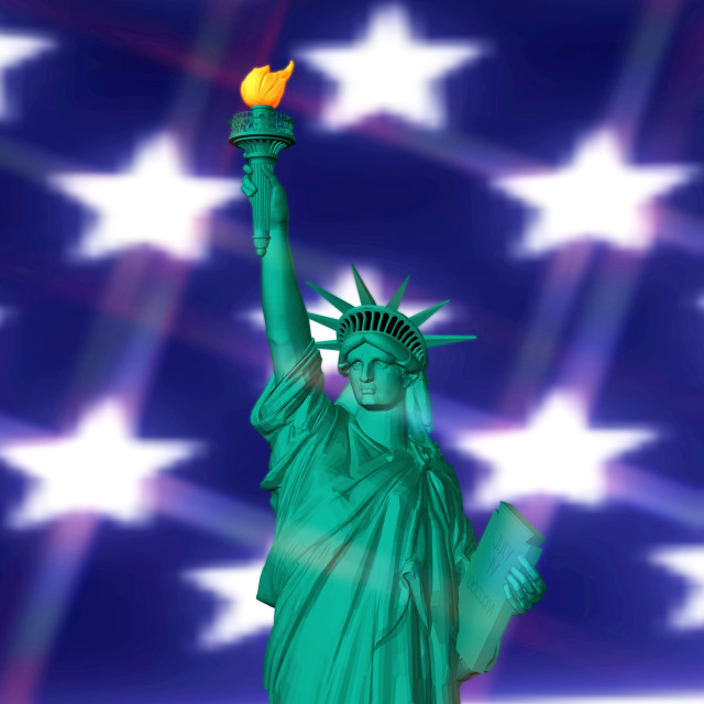 """""""3D Rendering of the Statue of Liberty"""" stock image"""