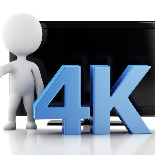 """3d illustration. 4K UltraHD TV. Technology concept."" stock image"