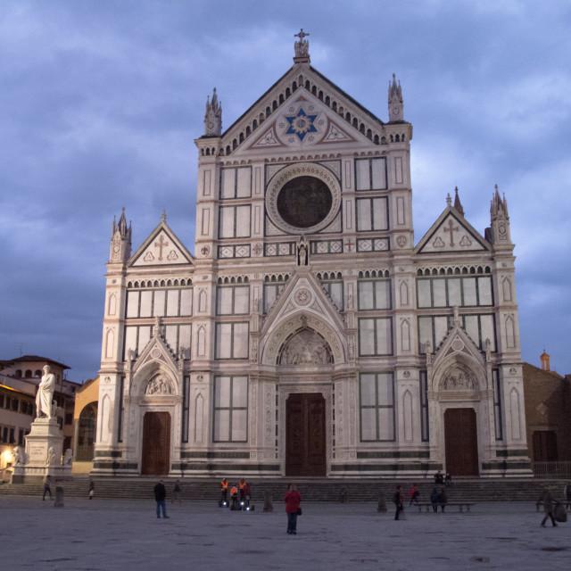 """""""Santa Croce at dusk"""" stock image"""