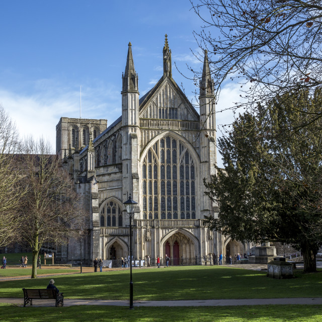 """Winchester Cathedral"" stock image"