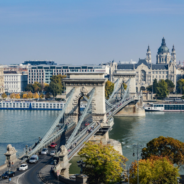 """Chain Bridge - Budapest"" stock image"