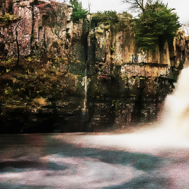 """High Force with a Watercolour effect."" stock image"