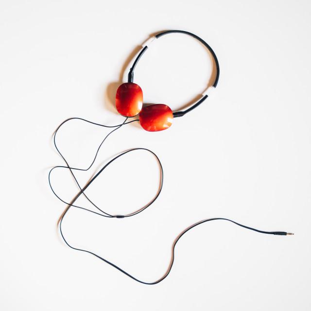 """""""Headphones On White"""" stock image"""