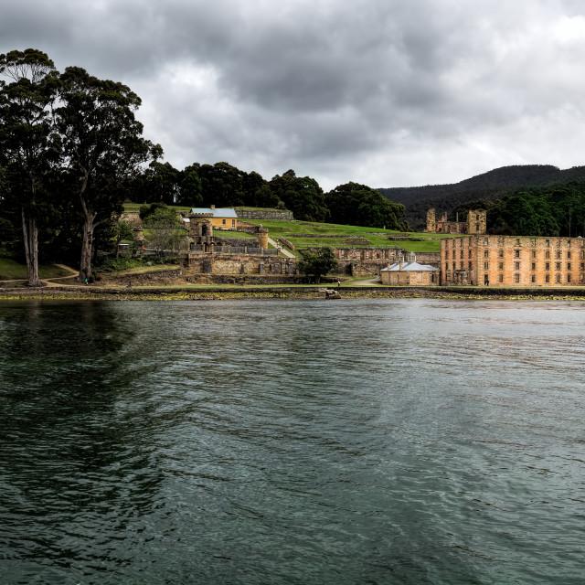 """""""Port Arthur Tasmania Panorama"""" stock image"""