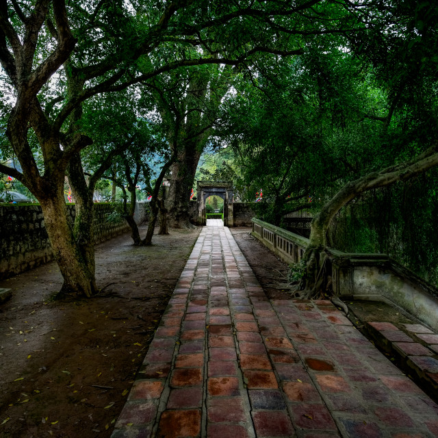"""Temple Walk - Tam Coc North Vietnam"" stock image"