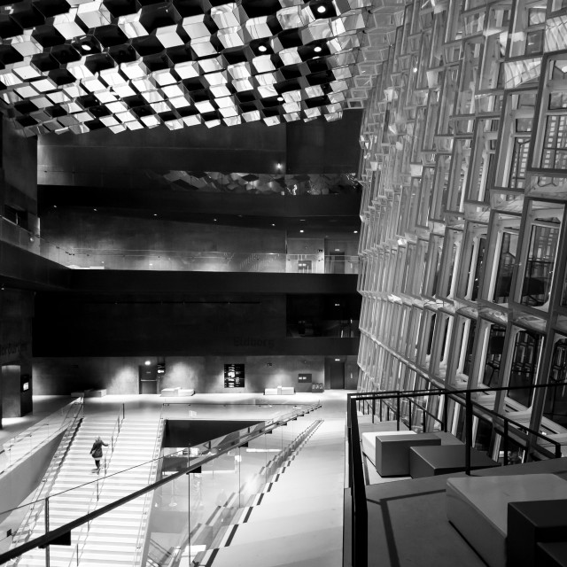 """Inside Harpa"" stock image"