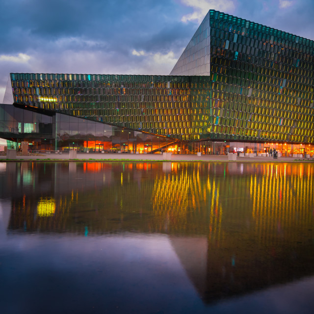 """Harpa lights"" stock image"