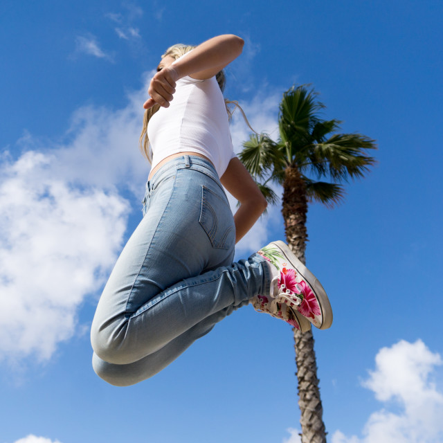 """""""Flying in the Air"""" stock image"""