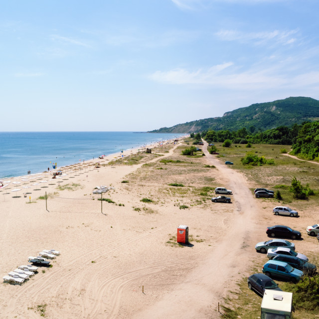 """Summer Beach near Albena, Bulgaria"" stock image"