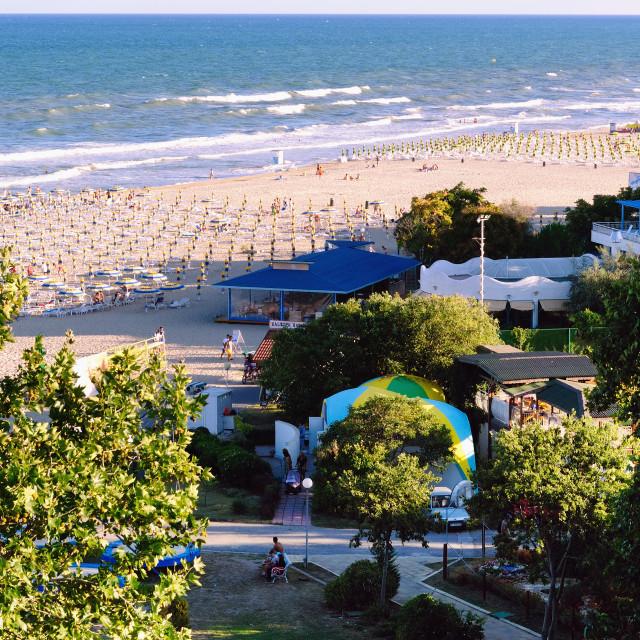 """Beach in the Resort of Albena, Bulgaria"" stock image"