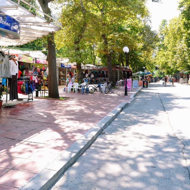 """""""Albena - Seaside Resort, Bulgaria"""" stock image"""