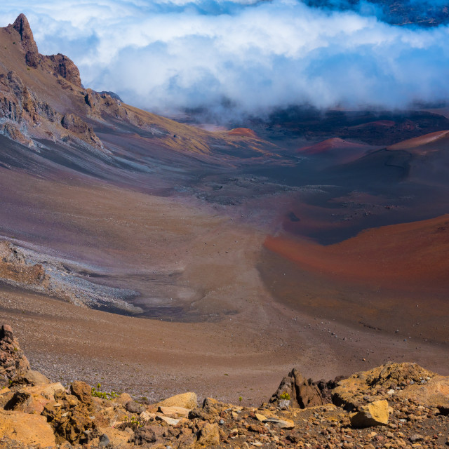 """""""The Crater of a Volcano"""" stock image"""