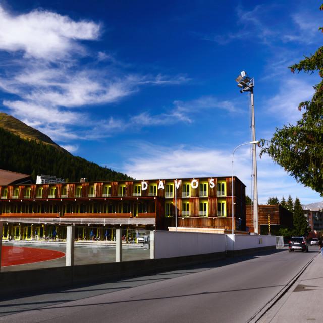 """Davos Sports Center, Switzerland"" stock image"