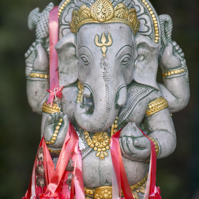 """THAILAND LAMPANG WAT DEMON ELEPHANT"" stock image"