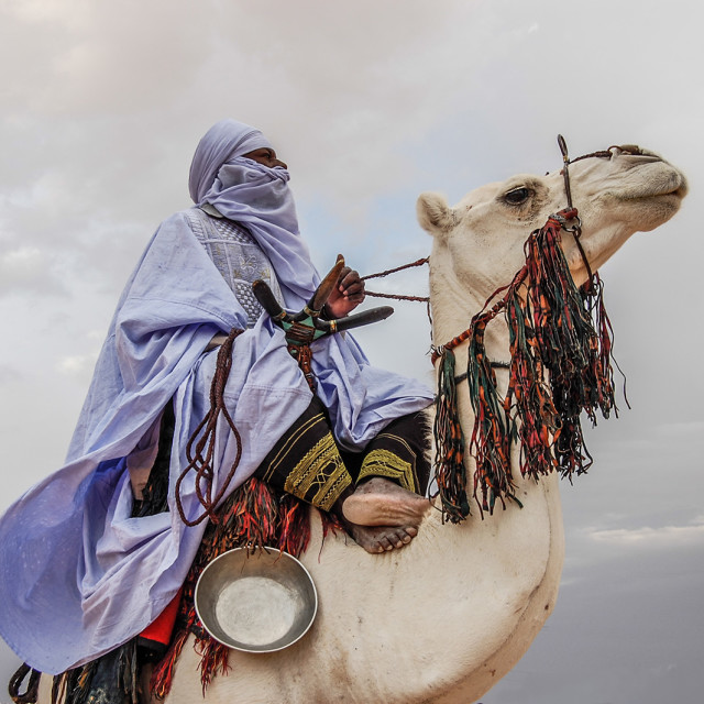 """The Libyan Tuareg in Desert ""GHAT ""LIBYA"" stock image"