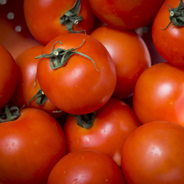 """Tomatoes, close up"" stock image"
