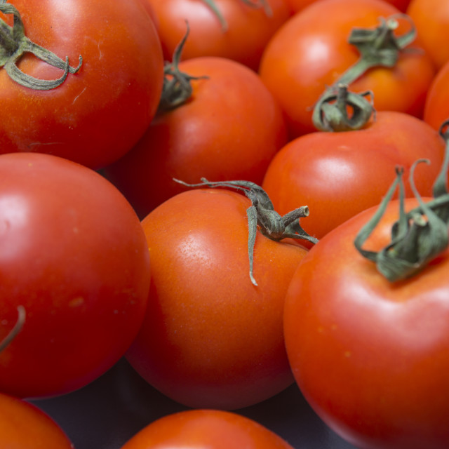 """close up of fresh ripe tomatoes"" stock image"