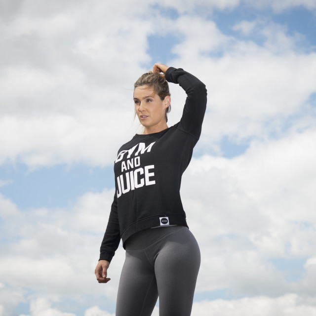 """""""fit woman getting ready to train outside"""" stock image"""