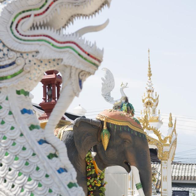 """THAILAND PHAYAO WAT RATCHAKHOT TEMPLE"" stock image"
