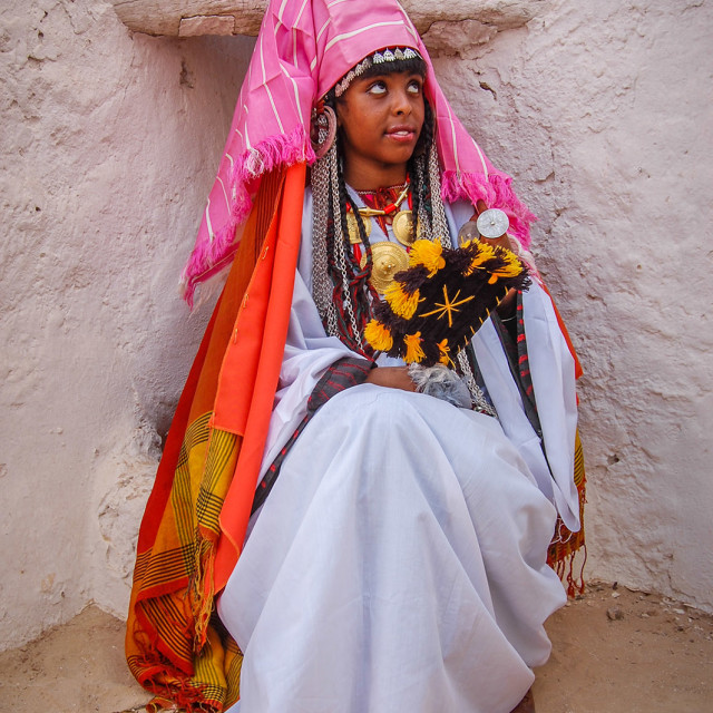 """The Libyan women From ""Ghadames Traditional Custom"" stock image"