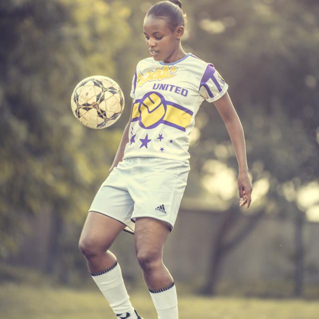 """Lady Footballer-People"" stock image"