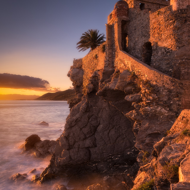 """The fortress on the sea"" stock image"