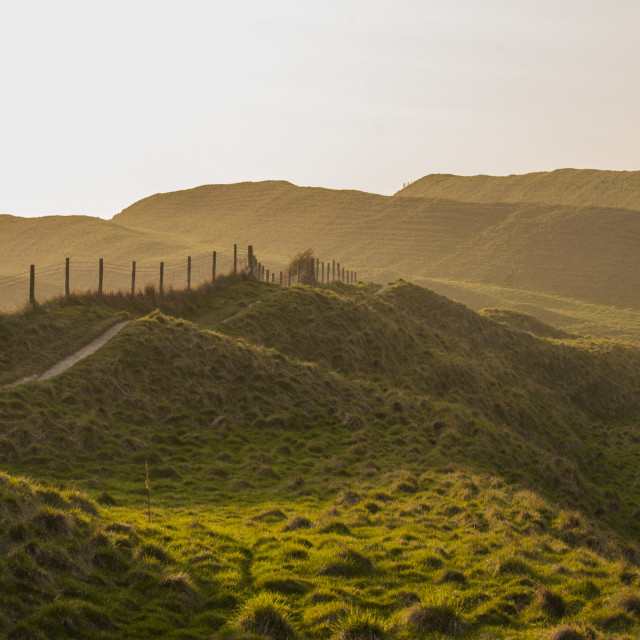 """""""Maiden Castle Iron Age hill fort, Dorset"""" stock image"""