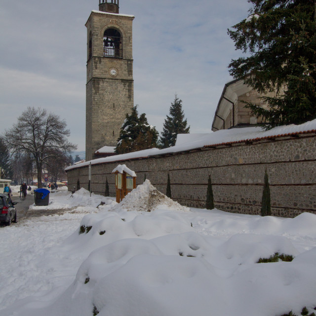 """Holy Trinity Church, Bansko, Bulgaria"" stock image"