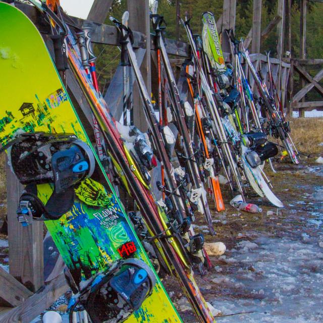 """Snowboard"" stock image"