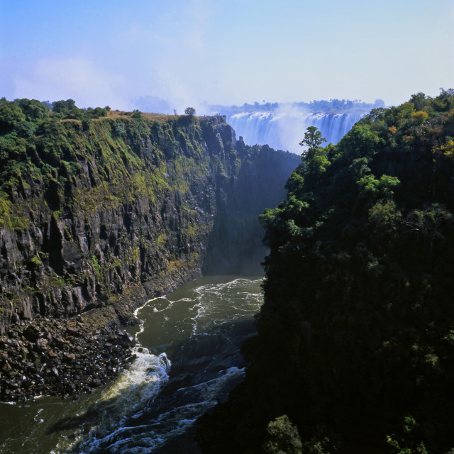 """The Zambezi Gorge"" stock image"