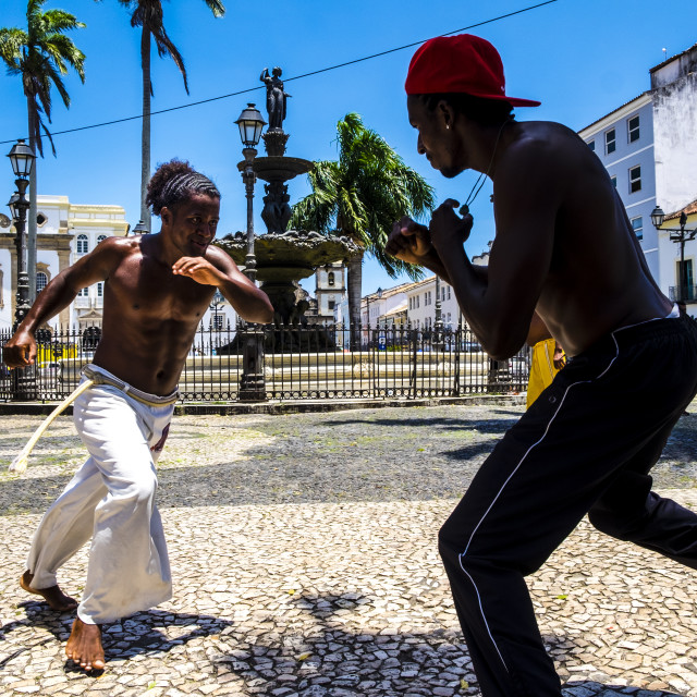 """Capoeira performance at Salvador Brazil"" stock image"