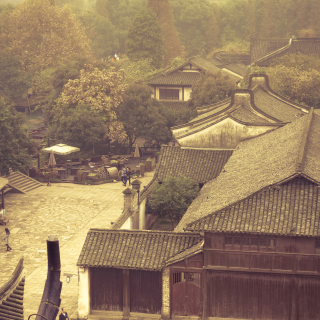 """Ancient Chinese town"" stock image"