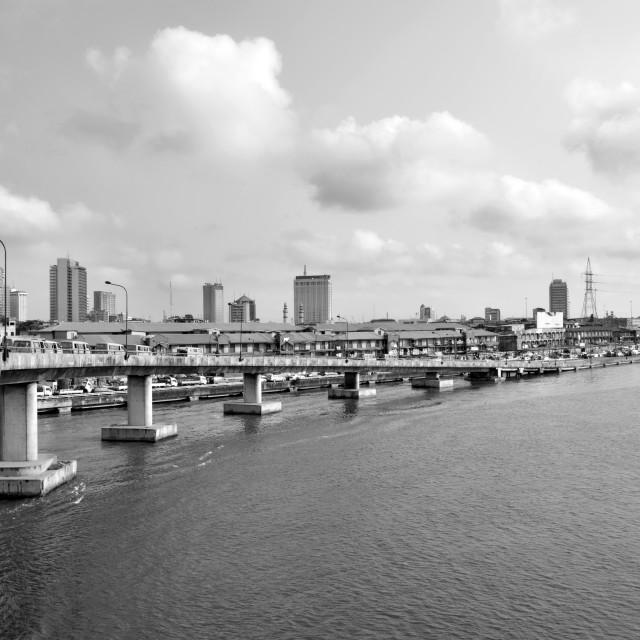 """""""Carter bridge, Lagos Nigeria."""" stock image"""