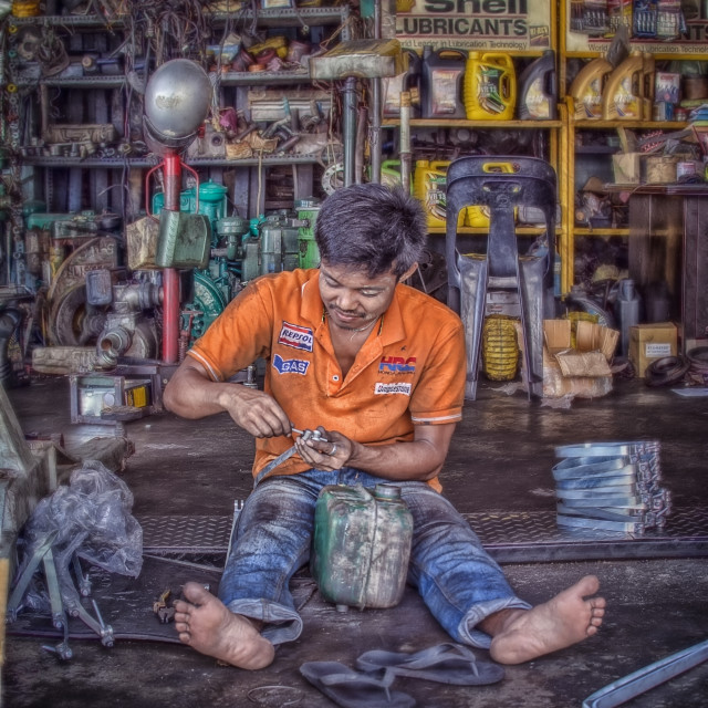 """Man at work"" stock image"