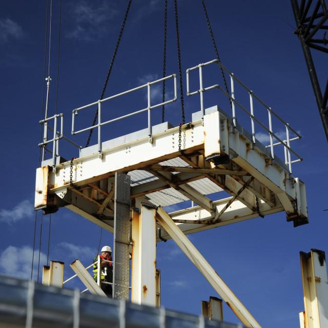 """Liftin Gear and Crane at Dover Docks"" stock image"