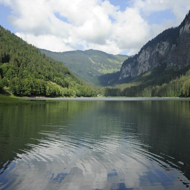 """""""Lac Montriond, Haute Savoie, France"""" stock image"""