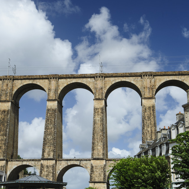 """""""Railway Viaduct, Morlaix, Brittany, France"""" stock image"""