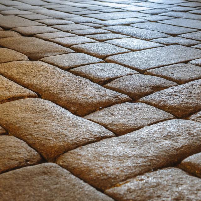 """Granite Flagged Floor"" stock image"