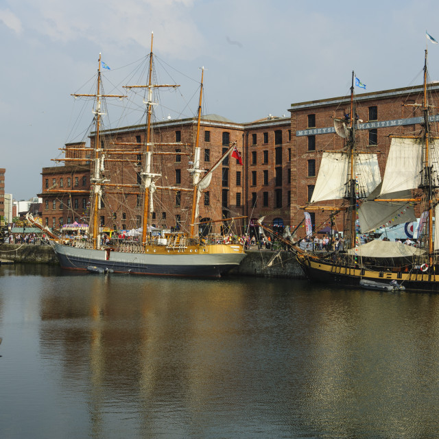 """""""Liverpool's Waterfront and Docks"""" stock image"""