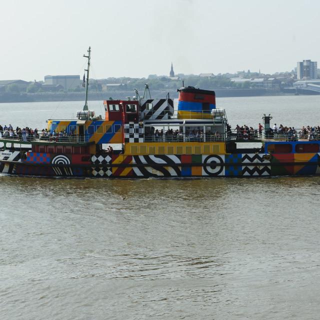 """Liverpool to Birkenhead Ferry"" stock image"