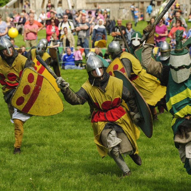 """Medieval Melee"" stock image"