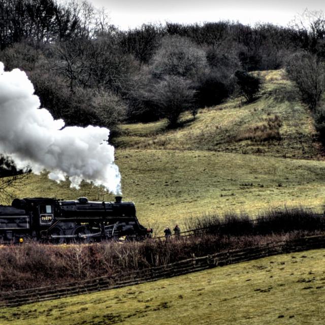 """Steam locomotive"" stock image"