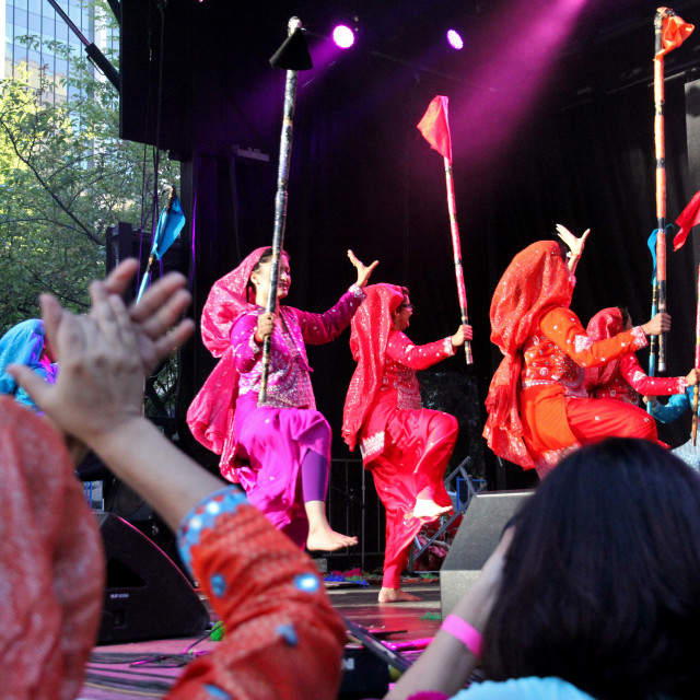 """PANJ, all-girls bhangra team"" stock image"