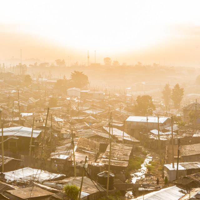 """Kibera slum"" stock image"