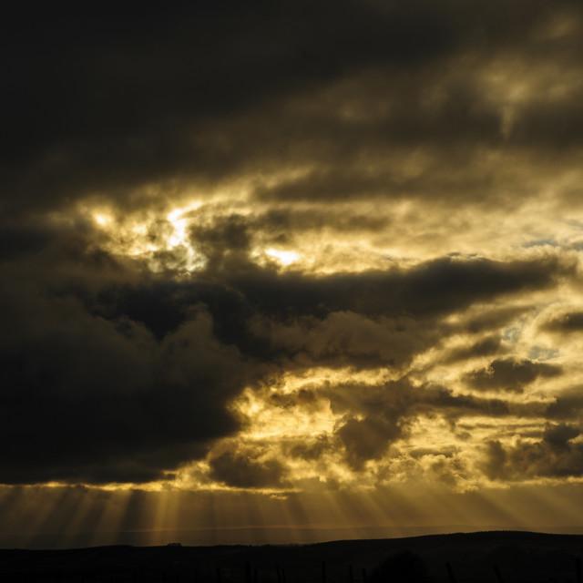 """Stormy Sky, Dartmoor."" stock image"