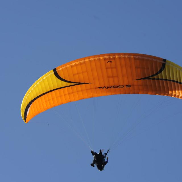 """Closeup of a hang glider"" stock image"