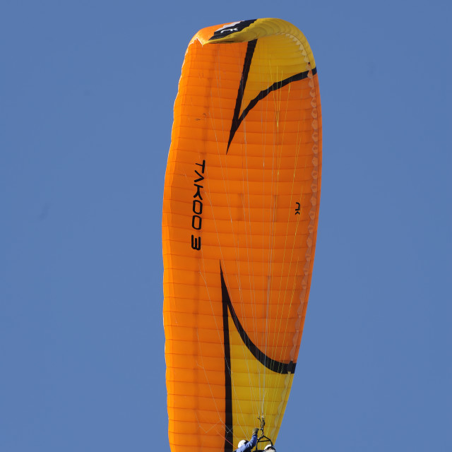 """Hang Gliding at Start Point, Devon"" stock image"
