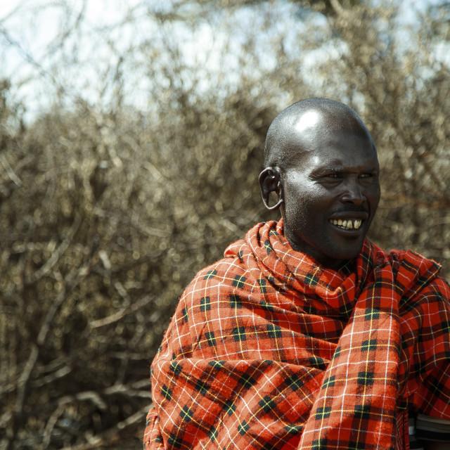 """""""Massai Man"""" stock image"""